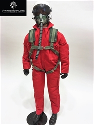 1/4.5 ~ 1/4 Modern Jet RC Pilot Figure (Red/ White)