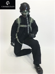 1/4.5 ~ 1/4 Modern Jet RC Pilot Figure (Black)