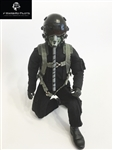1/5~1/6 Modern Jet RC Pilot Figure (Black)