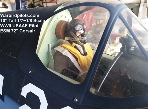 Us Ww2 Planes >> RC Pilot Figure, WWII American USAAF Pilot, 1/7th Scale, 1/8th Scale